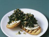 Cabbage and Mascarpone Crostini recipe