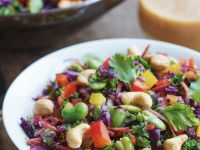 Cabbage, Kale, Fava Bean and Pepper Salad recipe