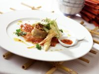 Cabbage Roll with Vegetable Tempura recipe
