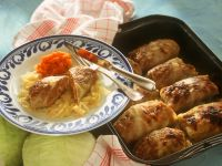 Cabbage Rolls and Carrot Puree recipe
