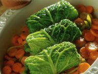 Cabbage Rolls with Sliced Carrots recipe