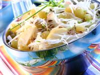Cabbage Salad with Apple and Grapes recipe