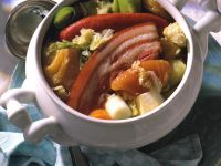 Cabbage Stew with Pork Belly and Dried Pears recipe