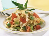 Cabbage with Tomatoes and Bell Pepper recipe