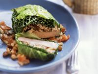 Cabbage-wrapped Pork with Nuts recipe