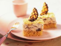 Cake Bars with Cream Topping recipe