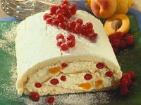 Cake Roll with Black Currant and Apricot Cream recipe
