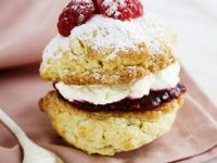 Cake Sandwich with Jam and Cream recipe
