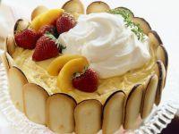Cake with Peaches and Cream recipe
