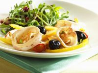 Calamari with Med-style Garnish recipe