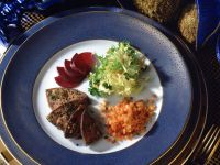 Calf's Liver with Lentils and Beets recipe