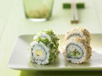 California Rolls with Sesame Seeds and Cilantro recipe