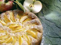 Calvados Apple Cake with Powdered Sugar recipe