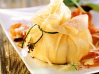 Camembert Parcels with Apricot Chutney recipe