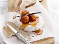 Anise Toasts with Poached Stone Fruit and Cheese recipe