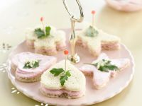 Canapes with Elderberry Cream recipe