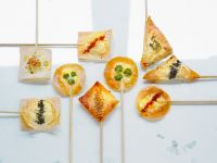 Canapes with Goat Cheese recipe