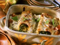 Cannelloni Stuffed with Squash and Spinach recipe