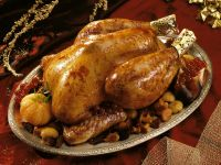 Capon with Mushrooms and Currants recipe
