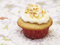 Caramel Glazed Popcorn Muffins