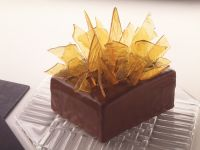 Caramel Layer Cake with Marzipan and Chocolate recipe
