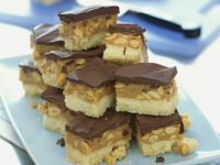Caramel-nut Bars with Chocolate Topping recipe