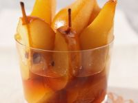 Caramel Poached Pears recipe