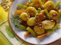 Caramelized Potatoes with Vegetables recipe