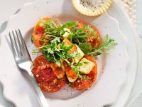 Caramelized Tomatoes with Arugula and Halloumi Cheese recipe