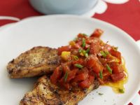 Jerk Pork with Pepper Salsa recipe