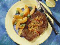 Caribbean-Style Grilled Steak with Apricot Salad recipe