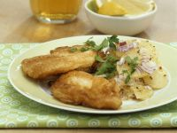 Carp in Beer Batter with Potato Salad recipe