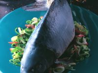 Carp with Leeks and Apples