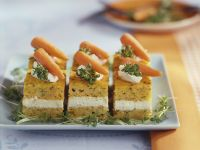 Carrot and Cream Cheese Cake Slices recipe