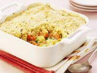 Carrot and Pea Gratin with Topping recipe