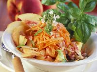 Carrot and Peach Salad with Pine Nuts recipe
