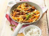 Carrot and Pineapple Stir-fry with Duck Breast recipe