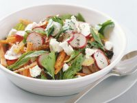 Carrot and Radish Salad with Goat Cheese recipe