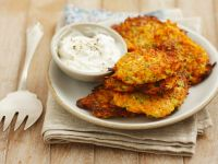 Carrot and Zucchini Patties with Dip recipe