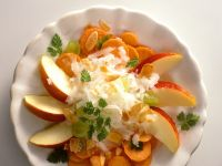 Carrot, Apple and Radish Salad with Almonds recipe