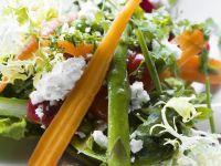 Carrot, Asparagus, Beetroot and Feta Salad recipe