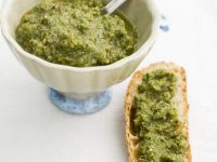 Carrot Green and Almond Pesto recipe