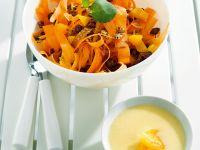 Carrot Ribbon Salad with Yogurt Applesauce recipe