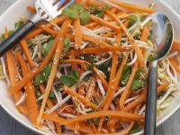 Carrot Salad with Bean Sprouts and Sesame recipe