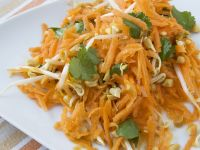Carrot Salad with Peanuts, Sprouts and Cilantro recipe