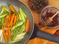 Carrots with Honey and Scallions recipe