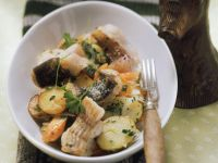 Catfish with Fried Potatoes and Carrots recipe