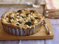 Cauliflower and Broccoli  Tarts with Almonds