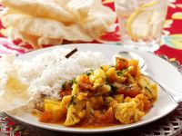 Cauliflower Curry with Rice recipe