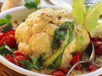 Cauliflower Gratin with Ground Meat and Cherry Tomatoes recipe